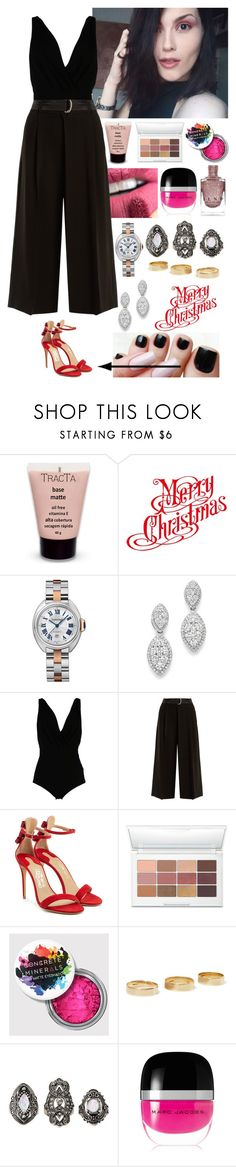 """""""My 2nd Christmas outfit. #MerryChristmas"""" by annacastrolima ❤ liked on Polyvore featuring Bloomingdale's, Elisabetta Franchi, Weekend Max Mara, Salvatore Ferragamo, Laura Geller, Loren Stewart, Charlotte Russe and Marc Jacobs"""