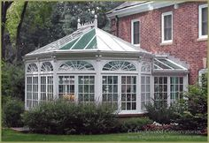 Classic Victorian conservatory design by Tanglewood Conservatories, Inc. Victorian Conservatory, Victorian Greenhouses, Glass Conservatory, Conservatory Design, Victorian Gardens, Victorian Homes, Outdoor Rooms, Outdoor Living, My Dream Home