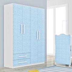 Gostou desta Roupeiro Infantil 4 Portas e 2 Gavetas Branco/Azul 62d402 - Rodial, confira em: https://www.panoramamoveis.com.br/roupeiro-infantil-4-portas-e-2-gavetas-branco-azul-62d402-rodial-4236.html