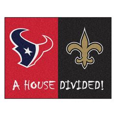 Houston Texans vs New Orleans Saints Rivalry Rug