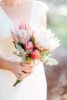 protea bridal bouquet | image via: hello may