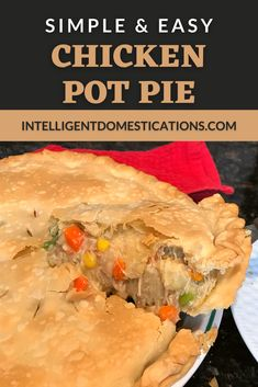 Easy recipe for homemade chicken pot pie. I make this recipe often during the winter casserole season months. Made from scratch plus recipe cheats make this dinner idea delectable and requested. Double crust and creamy vegetable filling. #comfortfood #chickenrecipe #dinneridea #casserole Delicious Dishes, Delicious Recipes, Crockpot Recipes, Yummy Food, Entree Recipes, Fall Recipes, Dinner Recipes, One Dish Dinners, One Pot Meals