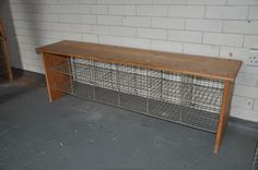Vintage gym locker bench on Gumtree. vintage gym benches with wire pigeon holes. An ideal piece of furniture for hallways or sitting room