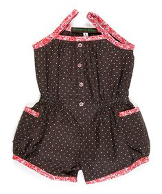 Black & Pink Polka Dot Baby Jumpsuit - Infant by Georges et Rosalie - Baby and Child on #zulilyUK today!