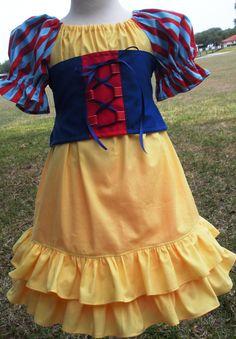 Custom Boutique Vacation Snow White Dress Disney Princess Girl 2 3 4 5 6 7 8