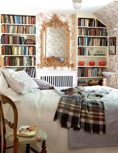 Where do I pin this!  Cosy?  Books? Interior design.   Oh I love this room.