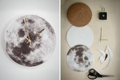 You only need 3 basic materials to DIY this moon clock.