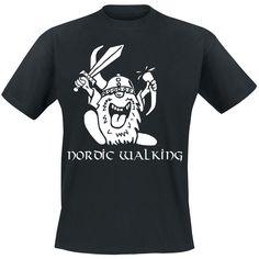 """Nordic Walking"" Shirt    Klassisches Funshirt mit Frontprint."