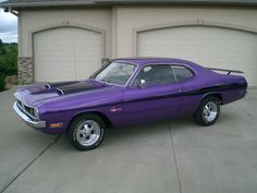 vintage purple car | ... , 340, classic, demon, dodge, mopar, muscle car, plum crazy, purple