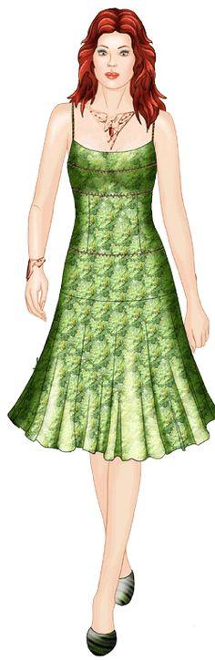 Sleeveless Dress free pdf download, S - XL eignet sich auch für colour-blocking