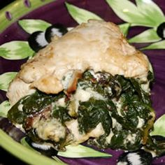 Chicken Breast Stuffed with Spinach Blue Cheese and Bacon Allrecipes-meh......