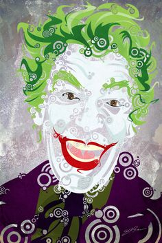60's Batman TV series Joker I love this art style. It makes a villain look cheerful - hahaha!