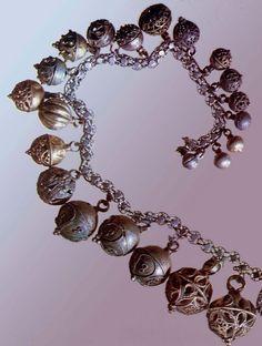 17 век цепь с пуговицами Серебро, металл; филигрань, зернь