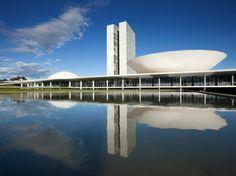Oscar Niemeyer's Iconic Architectural Works :  BRASILIA AND THE BRAZILIAN NATIONAL CONGRESS Brasília, Brazil