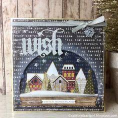 Snowglobe at Christmastime Shaker card by Richele Christensen