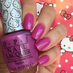 Super cute in pink - OPI Hello Kitty collection