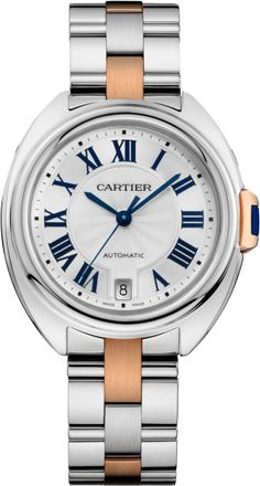 Clé de Cartier watch 35 mm, 18K pink gold, steel. $8,300 excl. sales tax