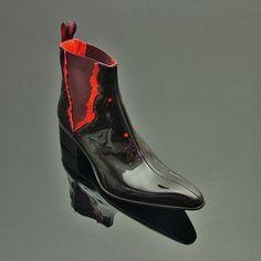 """The Rochester """"Torn"""" Blood Splatter Boot. #lordrochester #jefferywest #jefferywestuk #mensfashion #fashion #mensshoes #mensboots #footwear #alternative #rockandroll #alternativefashion #rockandrollfashion"""