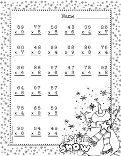 Double Digit Multiplication With Regrouping, Two Digit Multiplication, Christmas Two Digit Multiplication, Multiplication Worksheets, Teacher Tools, Teacher Pay Teachers, 2nd Grade Math, Second Grade, Dj Inkers, Math Sheets, Math Stations