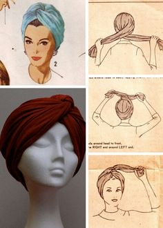 Hijab Tutorial Missoni doin the turban thing right now too like its new or something but ok. Not all Yall can pull this look off…. Hijab Tutorial Source : Missoni doin the turban thing. Turban Mode, Turban Hijab, Hair Turban, Tie A Turban, Turban Headbands, Turban Outfit, Bandana Outfit, No Slip Headbands, How To Wear Hijab