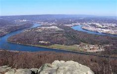 Moccasin Bend - the Tennessee River at Chattanooga.