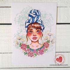 "Print ""Moça de Turbante"". Enviamos para todo Brasil via carta registrada"