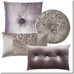 Kylie Minogue Stella Truffle Cushions -  Layer your bed with a selection of sumptuous velvet and embellished cushions to create the ultimate sense of richness and luxury.