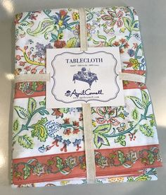 April Cornell Spring Summer Floral 100% Cotton Tablecloth NEW NWT | eBay