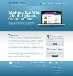 Design a simple, modern web template