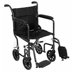 Revolution Mobility Folding Lightweight Aluminum Transport Chair Only 18 Lb Color Black  Seat Size 17 -- Details on product can be viewed by clicking the VISIT button