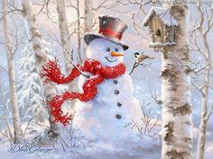 1415 - Birch Forest Snowman.jpg | Gelsinger Licensing Group