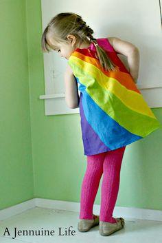 Love This !! Rainbow  Dress Tutorial