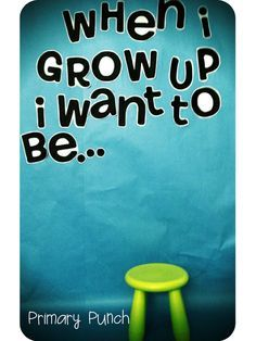When I grow up photo board