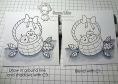 "How to ""ground"" an image with Copic markers"