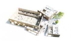 Image 8 of 9 from gallery of The New Urban School, Mixed Use Sports Complex Proposal / EFFEKT + Rubow. Architecture Site, Architecture Drawings, School Architecture, Gymnasium Architecture, Architecture Visualization, Chinese Architecture, Helsingor, Mix Use Building, Mixed Use