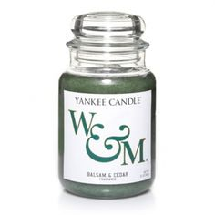 William & Mary (Balsam & Cedar) : Large Jar Candle : Yankee Candle
