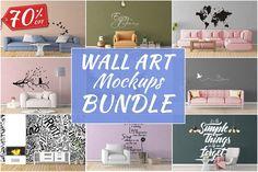 Wall Art Mockups BUNDLE V14 by Creative Interiors on @creativemarket