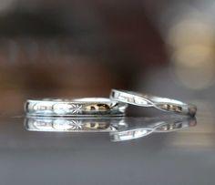 プラチナのミル打ちマリッジリング(オーダーメイド/手作り) [marriage wedding ring bridal PT900 結婚指輪 オーダーメイド]