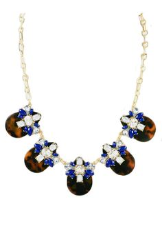 Ocean Blue Gems and Shells Necklace