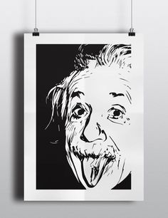 Posters decorativos personajes famosos Einstein