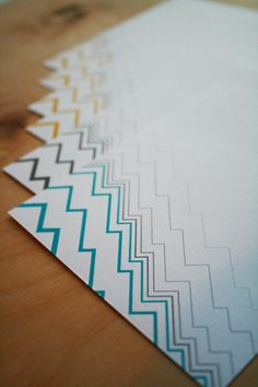 Items similar to Modern Note Cards - Zig Zag - Flat Note Card Set of 12 - Stationery on Etsy Graphic Design Branding, Zig Zag, Paper Goods, Note Cards, Stationary, Drawer, Card Ideas, Paper Crafts, Notes