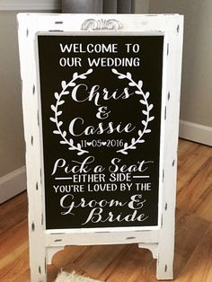 Pick A Seat Sign - Welcome To Our Wedding - Aisle Decor - Wedding Day Decor - Entrance Sign - - Personalized Sign