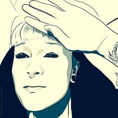 #ilustración #illustration #portrait #retrato #present #regalo @mayajanecoles
