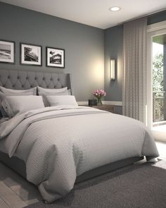 romantic bedroom ideas for couples for more comfortable 32 - Bedroom Id ., deko ideen romantic bedroom ideas for couples for more comfortable 32 - Bedroom Id . Grey Bedroom Decor, Trendy Bedroom, Bedroom Themes, Bedroom Colors, White Bedroom, Budget Bedroom, Bedroom Furniture, Bedroom Green, Diy Bedroom
