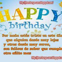 Que el día de hoy, sea el día mas feliz de toda tu vida - FELIZ CUMPLEAÑOS T.Q.M ~ Tarjetitas Happy Birthday, Frases, Romantic Cards, Love Cards, Happiness, Birthday Msgs, Poems Of Love, Happy Brithday, Urari La Multi Ani