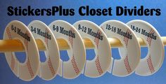 Baby Boy Closet Dividers Assembled or PreCut DIY by StickersPlus