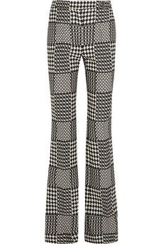 #AlexanderMcQueen Prince of Wales check jacquard bootcut pants | NET-A-PORTER $2,195