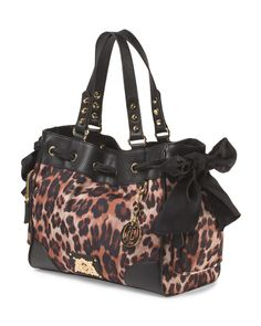 Leopard Print Daydreamer Tote Juicy Couture Handbags Prints Leopards Daydream