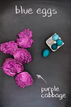 You're probably thinking that we're crazy. We know that purple cabbage isn't actually blue, but try it out for yourself. Purple cabbage makes for the perfect robin's egg blue dye for your naturally dyed Easter eggs.