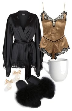 Untitled A fashion look from December 2017 by featuring La Perla, Versace, Kate Spade and West Elm Lazy Day Outfits, Girl Outfits, Cute Outfits, Fashion Outfits, Womens Fashion, Dressy Outfits, Pretty Lingerie, Beautiful Lingerie, Cute Sleepwear